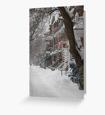 Montreal Winter Scene Greeting Card