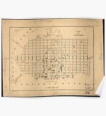 Vintage Map of Alexandria Virginia (1862) Poster
