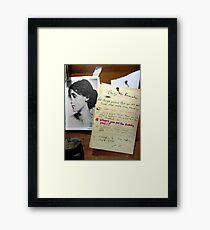 silly list Framed Print