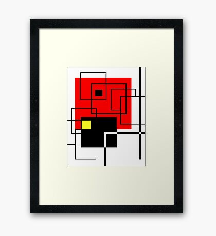 Red Square Framed Print