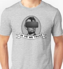 Funny Virtual Reality Player's Cool VR Parody (gray) Unisex T-Shirt