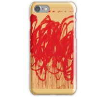 Cy Twombly UNTITLED [BACCHUS 1ST VERSION V] iPhone Case/Skin