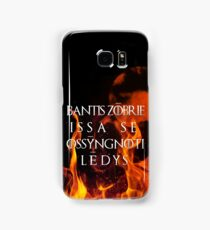 The night is dark and full of terrors Samsung Galaxy Case/Skin
