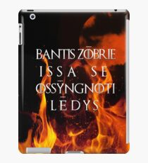 The night is dark and full of terrors iPad Case/Skin