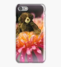 Teddy in the petals iPhone Case/Skin