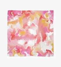 Abstract in red, yellow, pink, and white Scarf