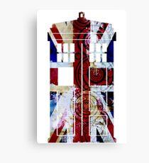 Union Jack TARDIS with Gallifreyan  Canvas Print