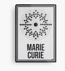 MARIE CURIE - Women in Science Wall Art Metal Print