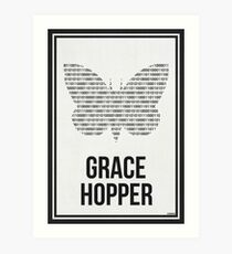 GRACE HOPPER - Women in Science Wall Art Art Print