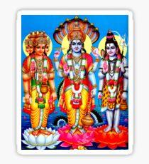 """""""BRAHMA GOD VISHNU GOD SHIVA"""" Print Sticker"""