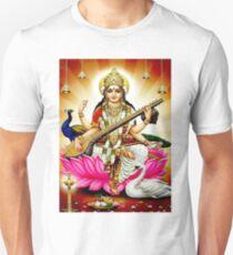"""BRAHMA SARASWATI CONSORT AND GODDESS"" Print Unisex T-Shirt"