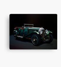 Bentley Open Tourer 1929 Painting Canvas Print