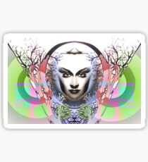 Spring Moon; Expressionism Digigraph by leading Upside Down artist  L. R. Emerson II Sticker