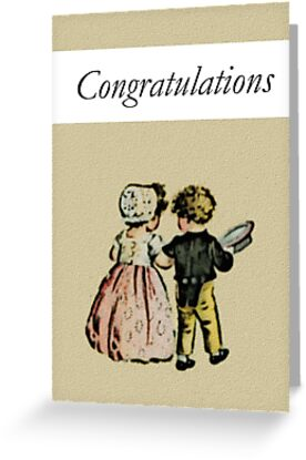 Congrats Engagement or Wedding Card (Boy and Girl in Love) by starcloudsky