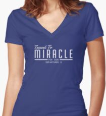 f3800b8a9687c The Leftovers - Travel To Miracle Women's Fitted V-Neck T-Shirt