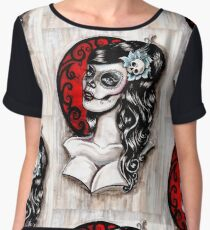 Day of the dead pinup tattoo Chiffon Top