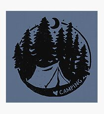 Love Camping Photographic Print