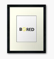Sherlock - BORED Framed Print