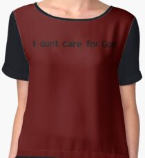 I don't care for Gob Women's Chiffon Top