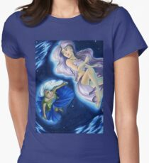 The Planets: Earth and Moon Women's Fitted T-Shirt
