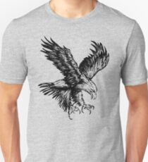 Bald Eagle (Black) Slim Fit T-Shirt