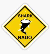caution-sharknado Sticker