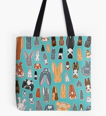 Who's Your Bunny | Show Rabbit Breeds Textile Angora Holland Lop Belgian Hare Rex Rhinelander Dutch Jersey Wooly American Rabbit Breeders Tote Bag