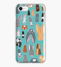 Who's Your Bunny | Show Rabbit Breeds Textile Angora Holland Lop Belgian Hare Rex Rhinelander Dutch Jersey Wooly American Rabbit Breeders iPhone Case/Skin