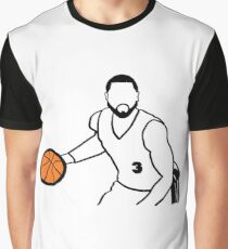 Dwyane Wade Dribbling a Basketball Graphic T-Shirt