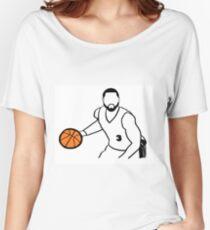 Dwyane Wade Dribbling a Basketball Women's Relaxed Fit T-Shirt