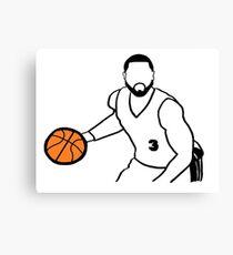 Dwyane Wade Dribbling a Basketball Canvas Print