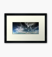 Wispy Horsetail Clouds Floating High Framed Print