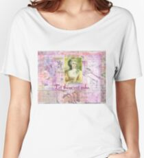 Marie Antoinette  Let Them Eat Cake quote   Women's Relaxed Fit T-Shirt