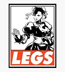 Chun-Li Legs Obey Design Photographic Print