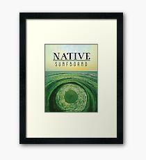 Native Surfboard Framed Print