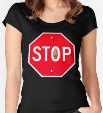 STOP TRUMP Women's Fitted Scoop T-Shirt