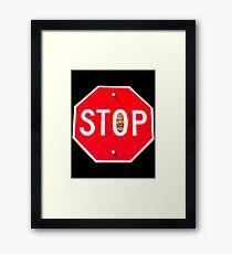 STOP TRUMP Framed Print