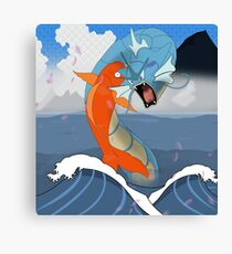 Pokemon Koi Dragon (Gyarados & Magikarp) Canvas Print