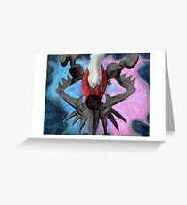 Pokemon Darkrai Watercolor Painting Greeting Card