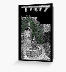 Tohono Chul Courtyard at night * Greeting Card