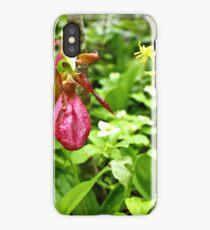 Pink Lady's Slipper iPhone Case/Skin