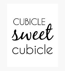Cubicle Sweet Cubicle Photographic Print