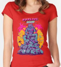 Hotline Miami Women's Fitted Scoop T-Shirt