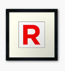 Team Rocket Pokemon Logo Framed Print