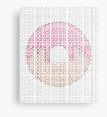 Donuts in Text  Metal Print