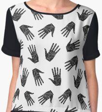 Black graphic arms Chiffon Top