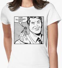 Dark Illuminati Shit. Womens Fitted T-Shirt