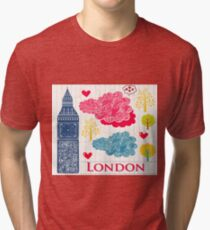 London Romantic 578 Tri-blend T-Shirt