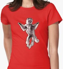 SATURDAY NIGHT LEMUR Womens Fitted T-Shirt