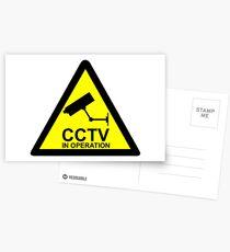 CCTV Hinweis Postkarten